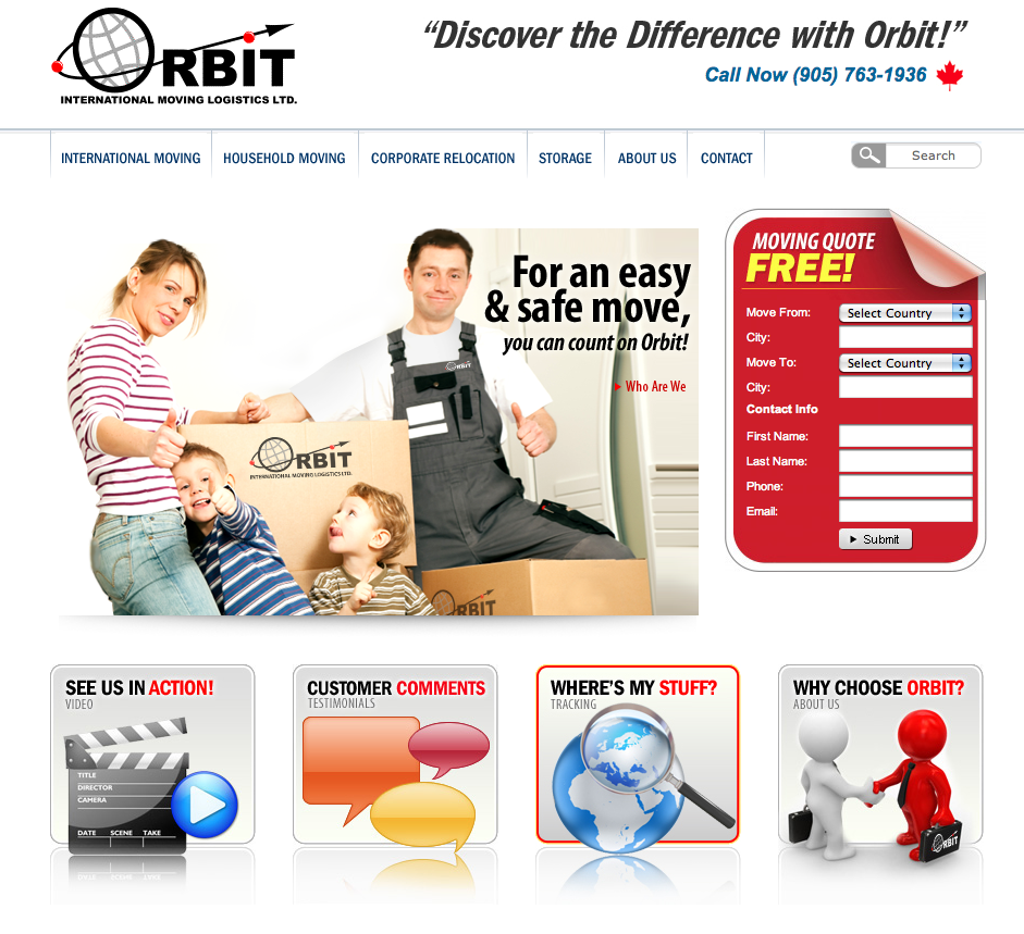 We're happy to announce that OrbitMoving.com is now live! The web site is built on Wordpress, providing full CMS capabilities and in house management for their team.